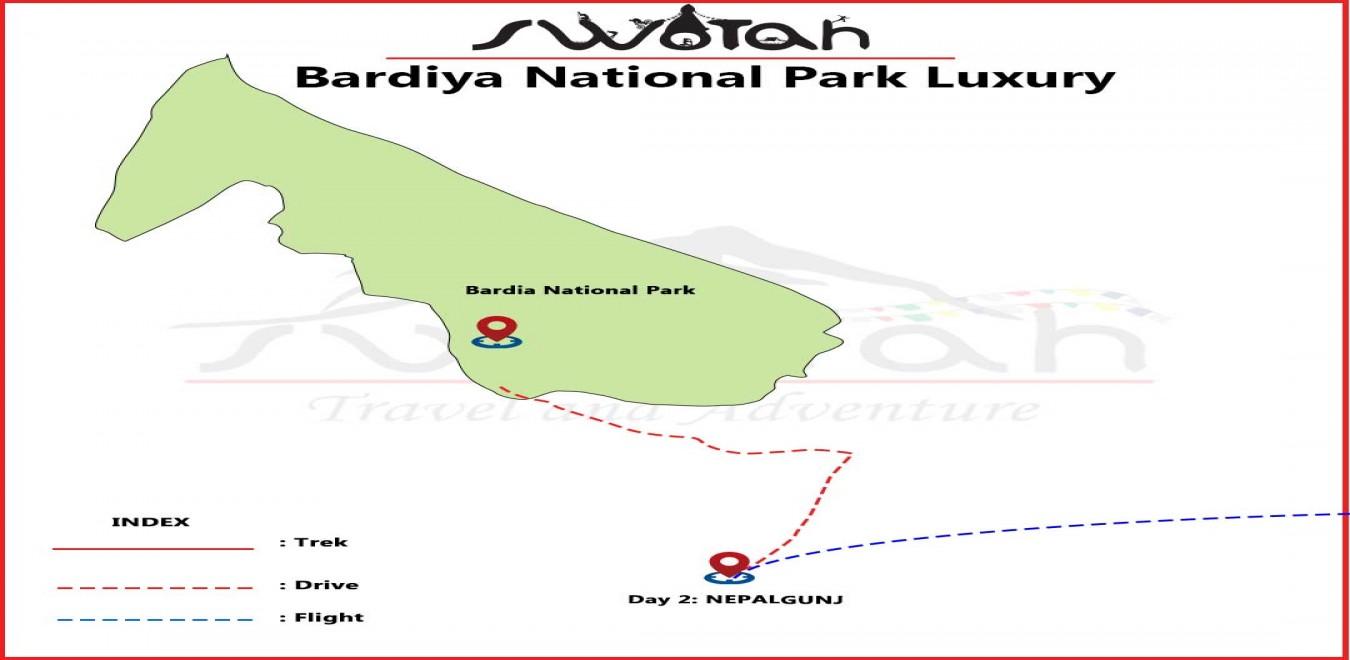 Bardiya National Park Luxury map