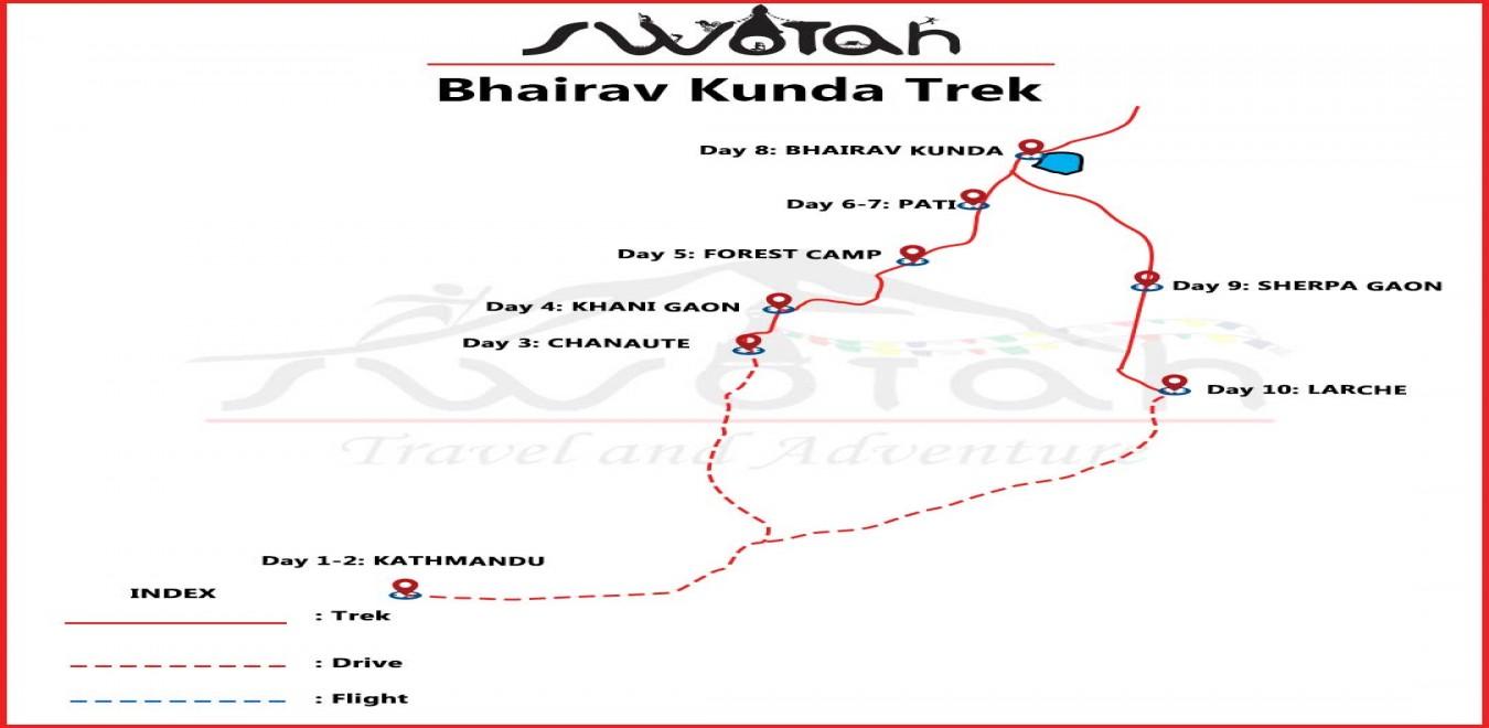 Bhairav Kunda Trek map