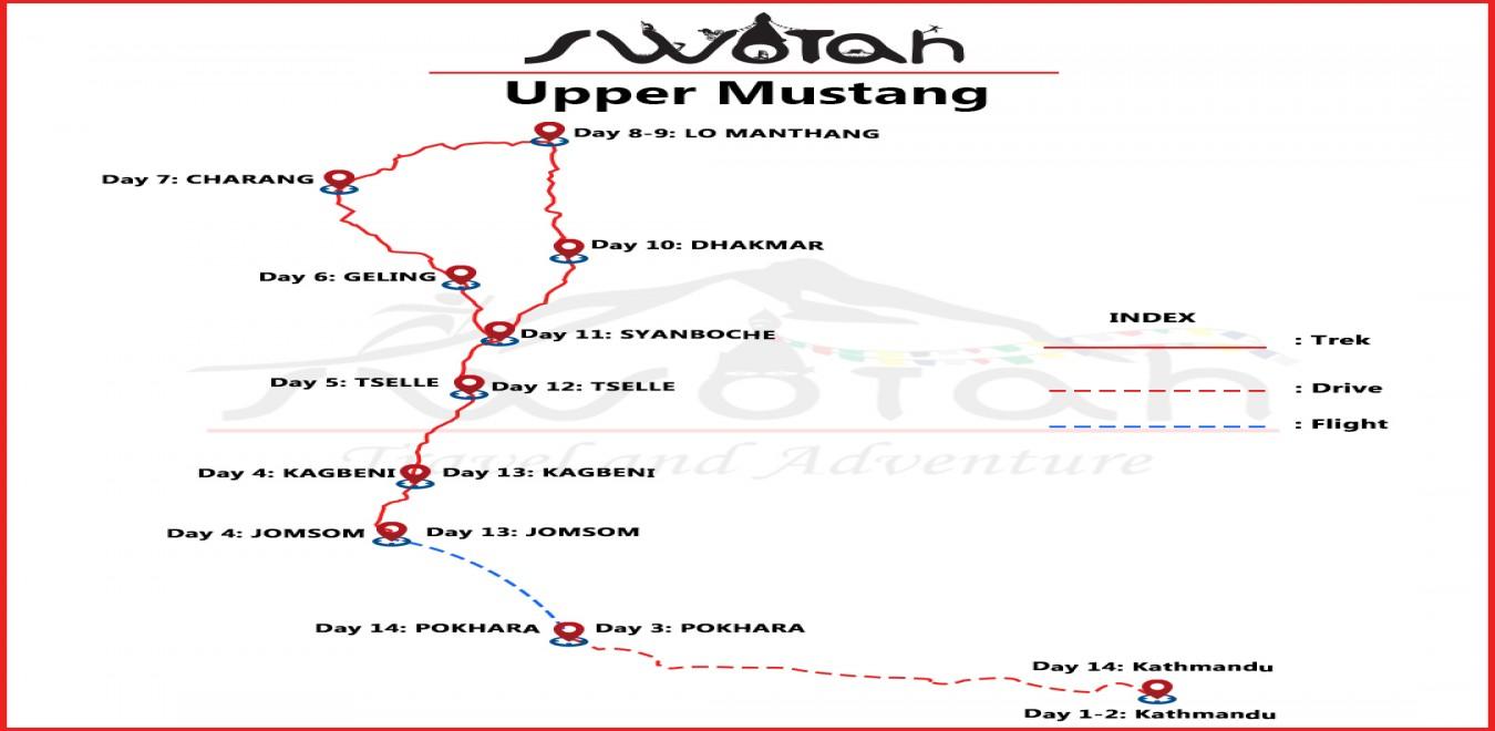 Upper Mustang map