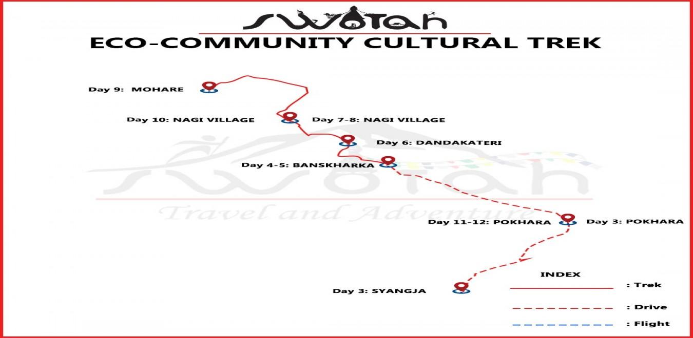 Eco- Community Cultural Trek map