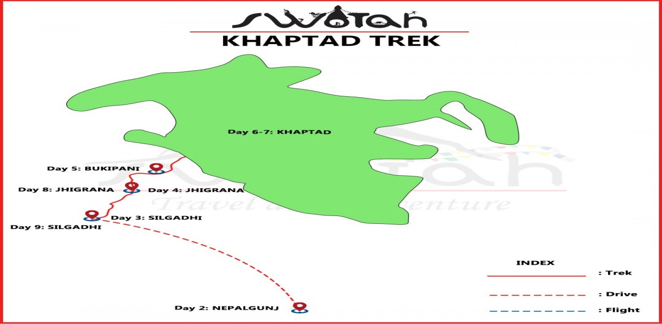 Khaptad  National  Park Trek map