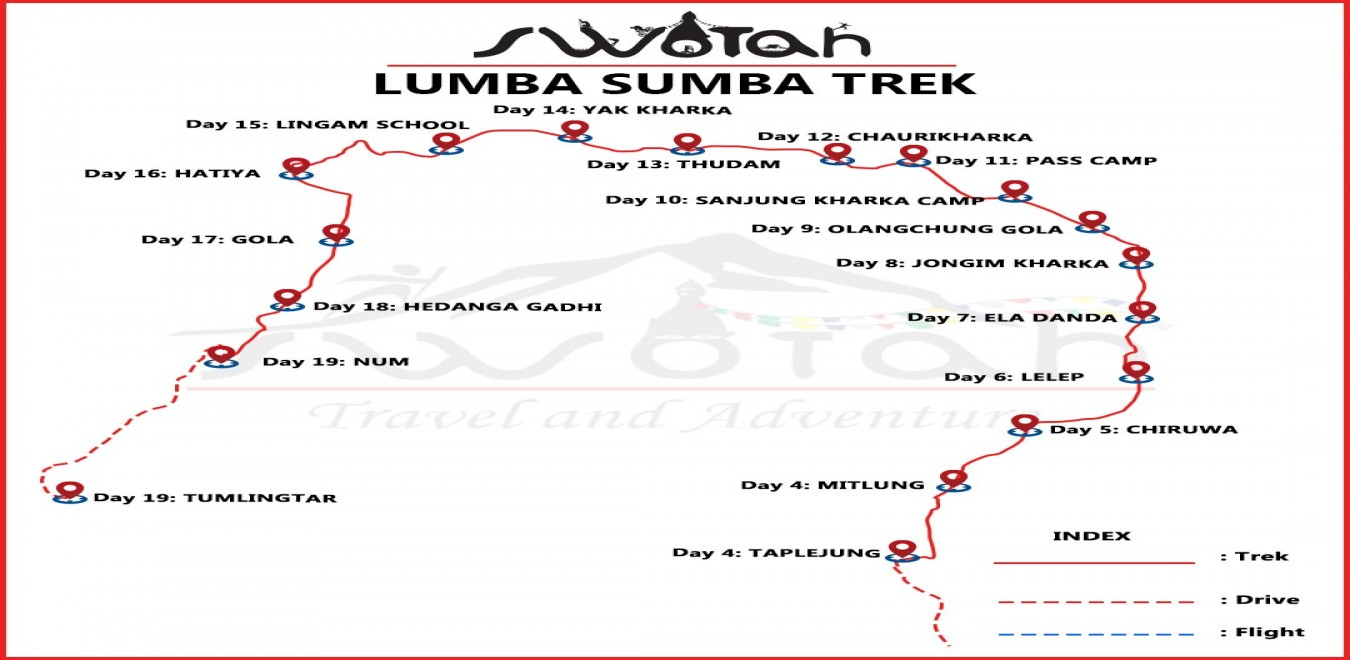 Lumba Sumba Trek map