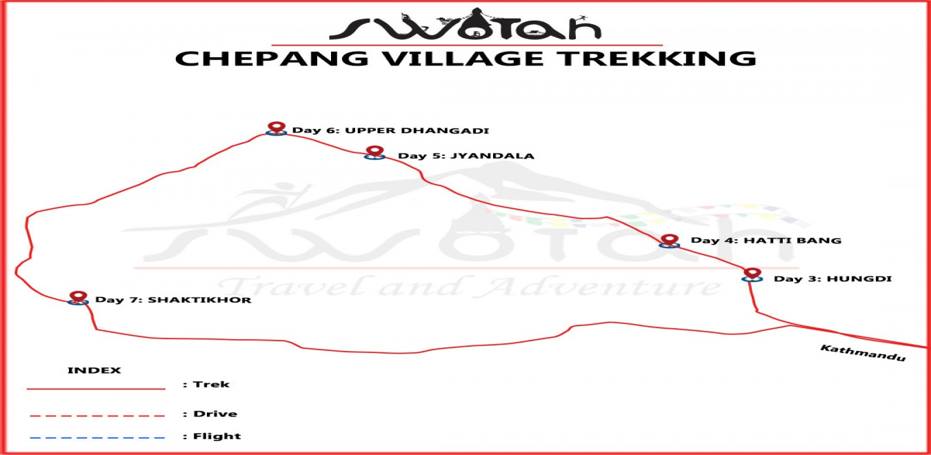 Chepang Village Trekking map