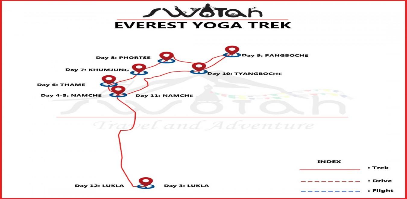 Everest Yoga Trek map