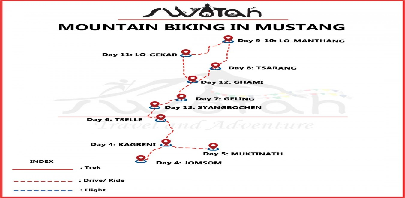 Mountain Biking in Mustang map