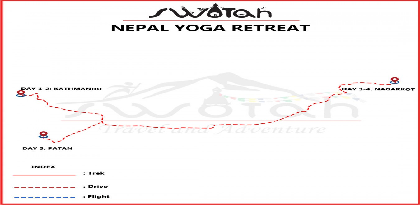 Nepal Yoga Retreat map