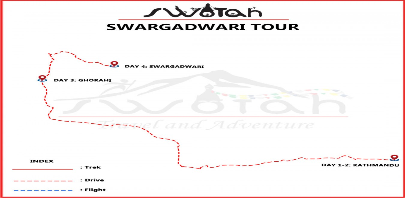 Swargadwari Pilgrimage Tour map
