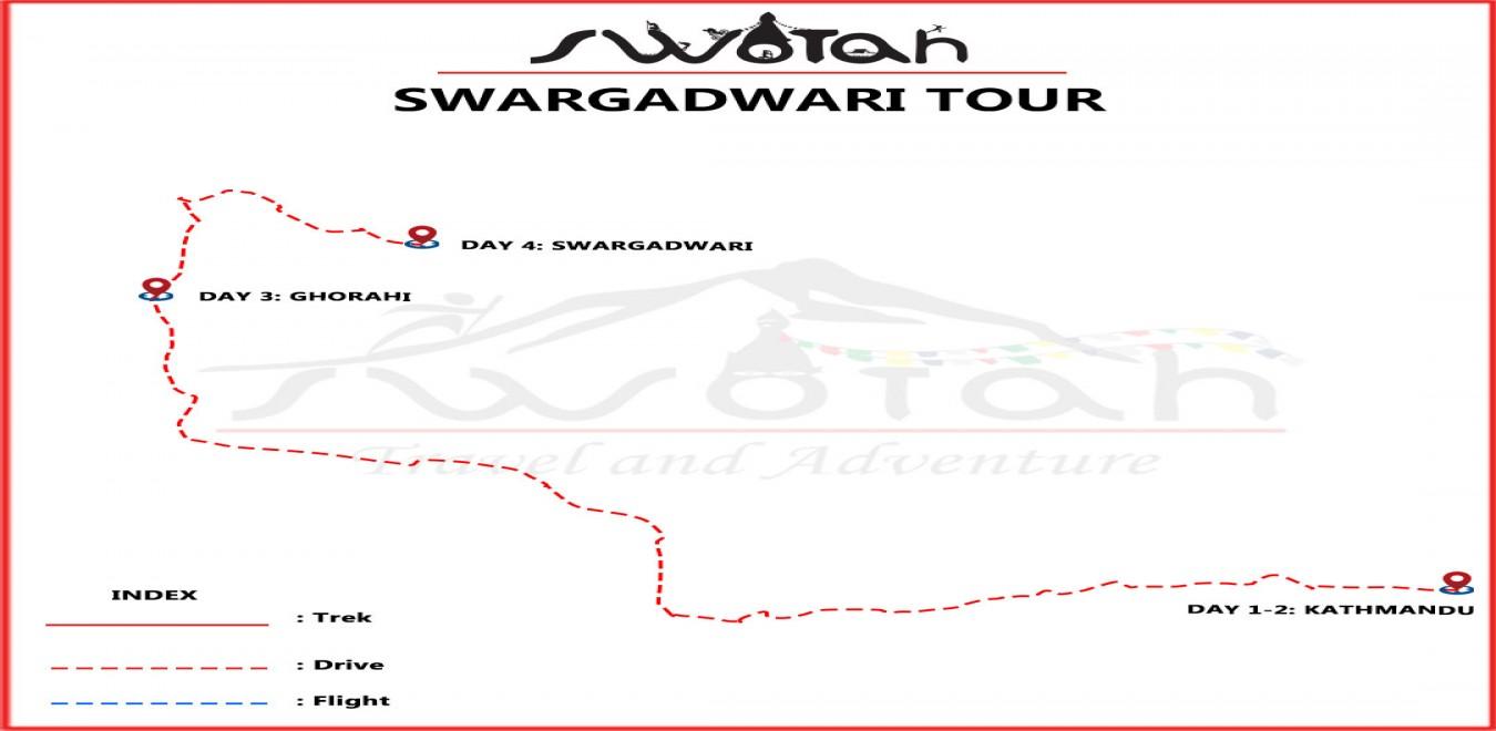 Swargadwari Pilgrimage Tour map