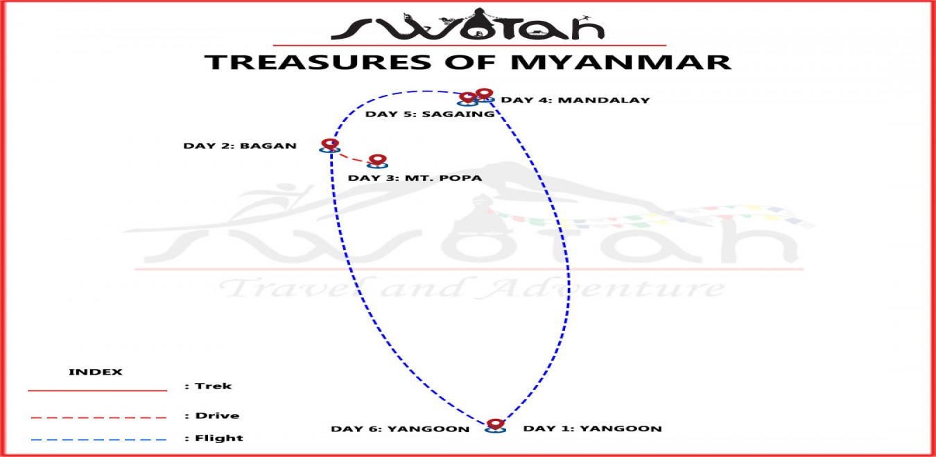 Treasures of Myanmar map