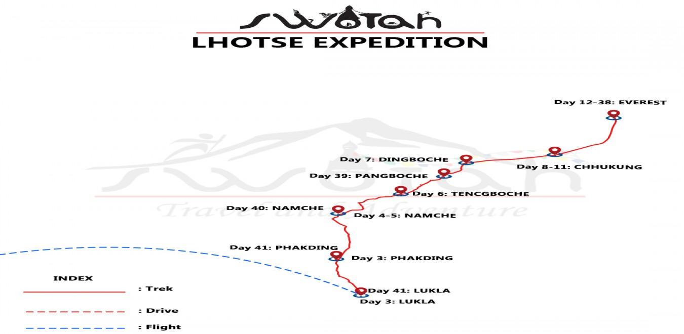 Lhotse Expedition map