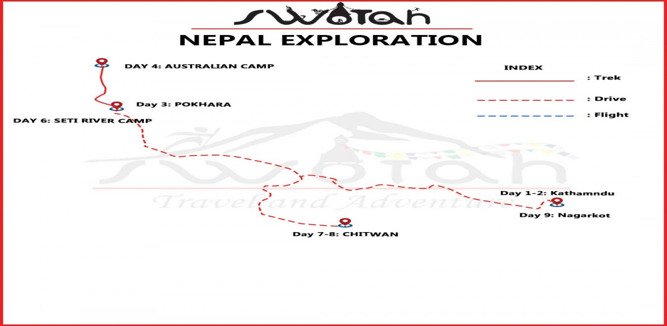 Nepal Exploration map