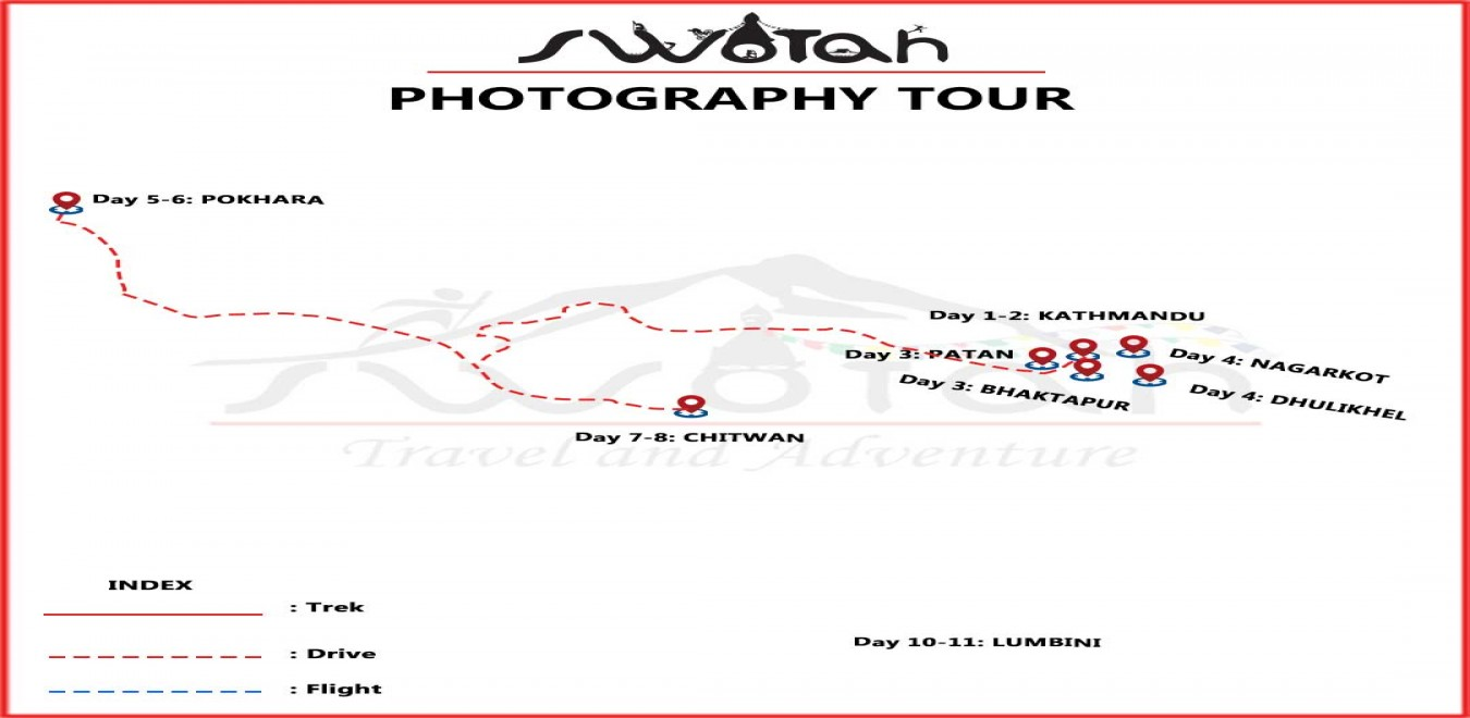 Photography Tour in Nepal map