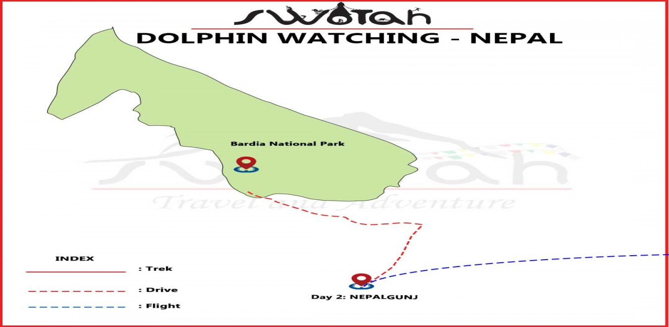 Dolphin Watching - Nepal map