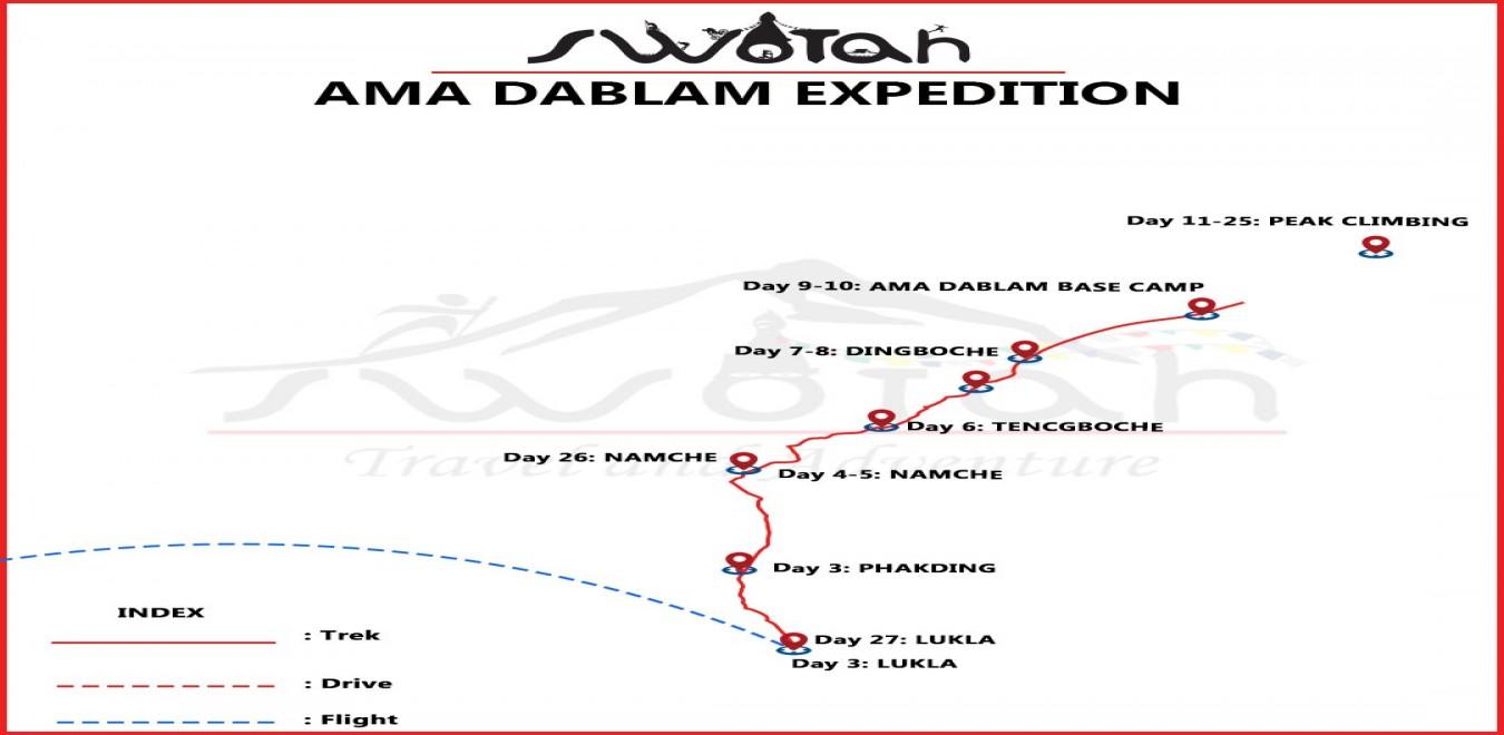 Ama Dablam  Expedition map