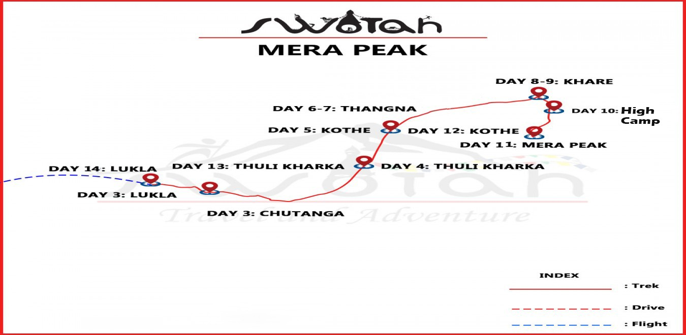 Mera Peak map