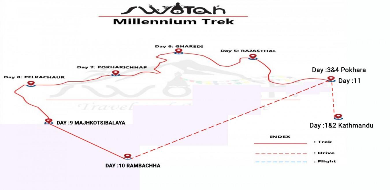 Millennium Trek map