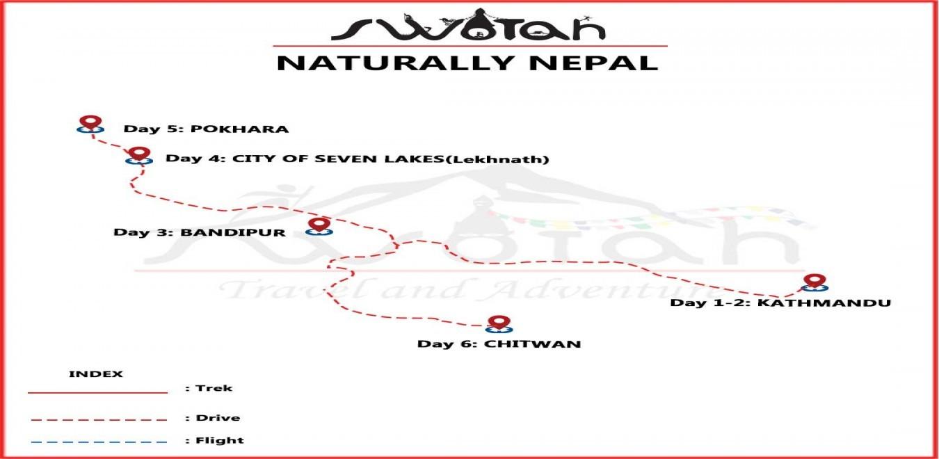 Naturally Nepal map