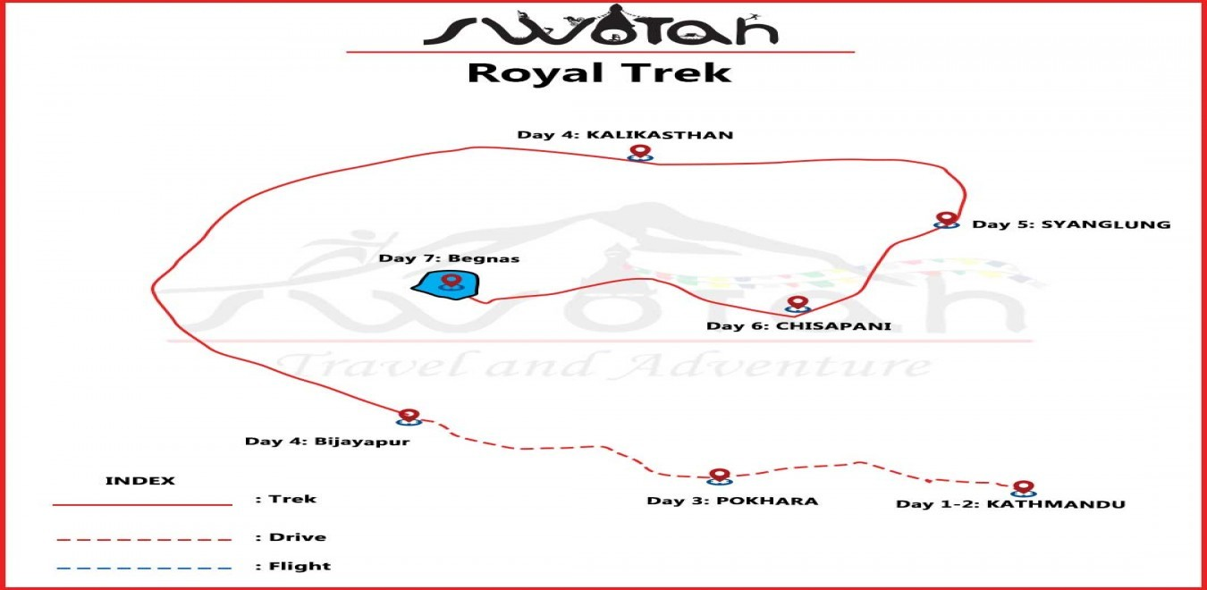 Royal Trek map