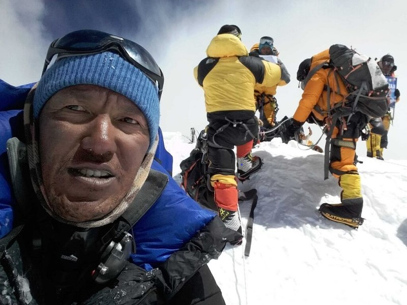 Summitting Everest
