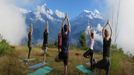 Poon Hill Sun Salutation Yoga Trek